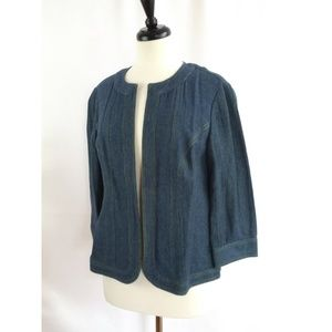 Additions by Chico's Size 1 M Blue Open Blazer